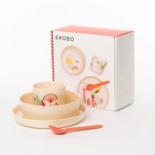 Kit de refeição de bambu  - Trees - Kids